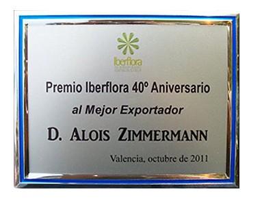 Auszeichnung Iberflora 2011